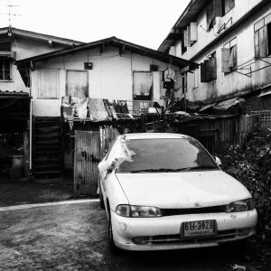 black and white picture home car bangkok