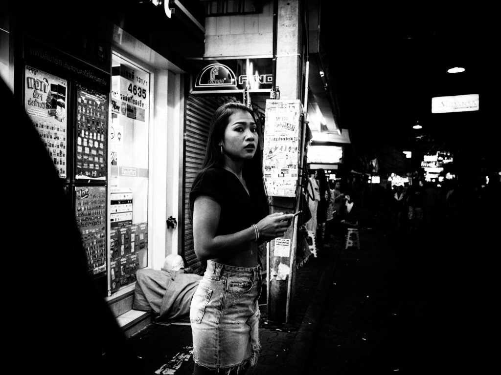 candid portrait walking street pattaya
